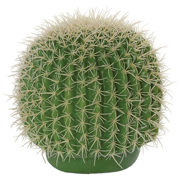 """** ARTIFICIAL CACTUS **   8"""" Plastic Barrel Cactus with Light Needles  Natural Touch 8.5"""" Width Bare Stem  ITEM#A651 email for price/minimum: sales @ displayit-info.com"""