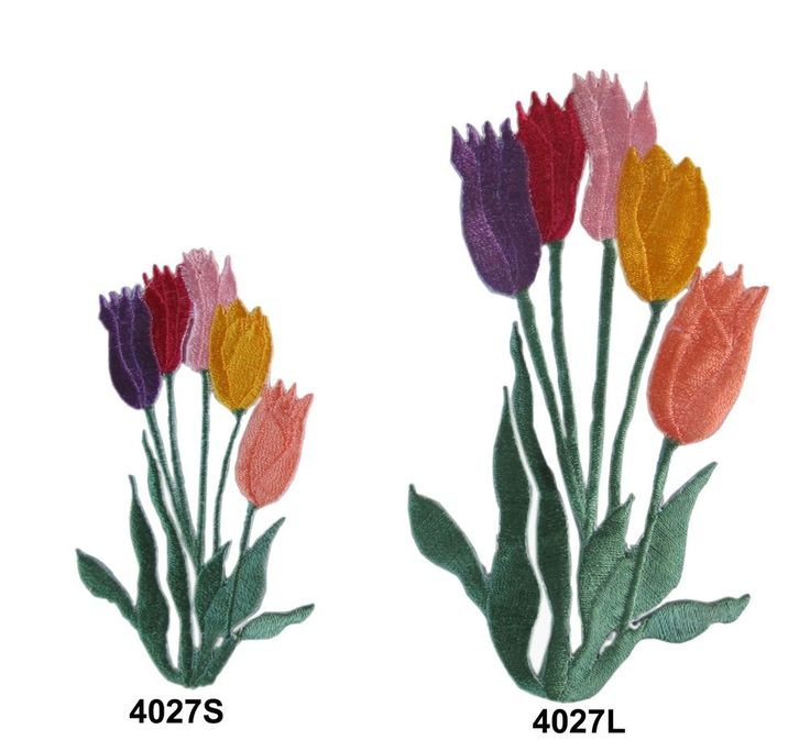 Tulips Embroidery Patch