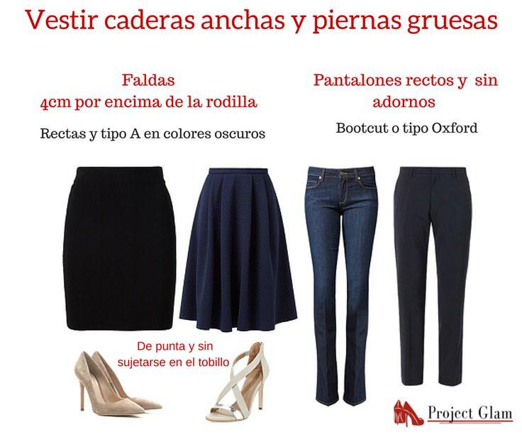 Cómo vestir caderas y piernas gruesas  #caderasanchas #piernasgruesas #projectglam