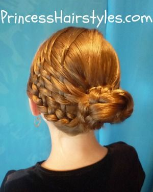Basket weave bun hairstyle tutorial  This mom is so amazing!!!  You will prob. need someone to do these for you, but they are all AMAZING!!!  Girly sleep over anyone?