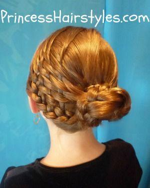 Basket Weave Braid Woven Bun Hairstyle