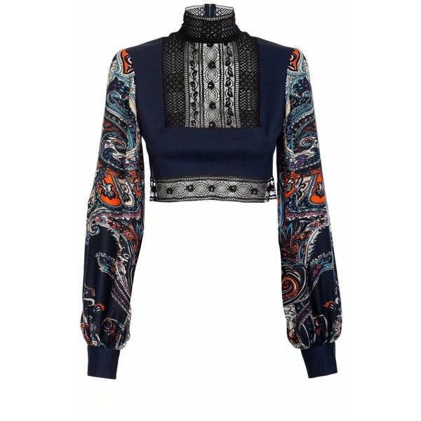 JIRI KALFAR - Boho Long Sleeve Top ($315) ❤ liked on Polyvore featuring tops, white boho top, bohemian tops, white tops, lace top and boho tops
