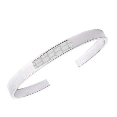 Bandhu fragment bracelet white lizard thin |www.bandhu.eu
