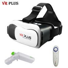 VR 3.0 VR ПЛЮС Стеклянные Линзы Телефон 3d-очки Виртуальной реальности Гарнитура Картон VRBOX Для 4.7-6' Мобильный Телефон + Геймпад //Цена: $22 руб. & Бесплатная доставка //  #gadgets #ноутбуки