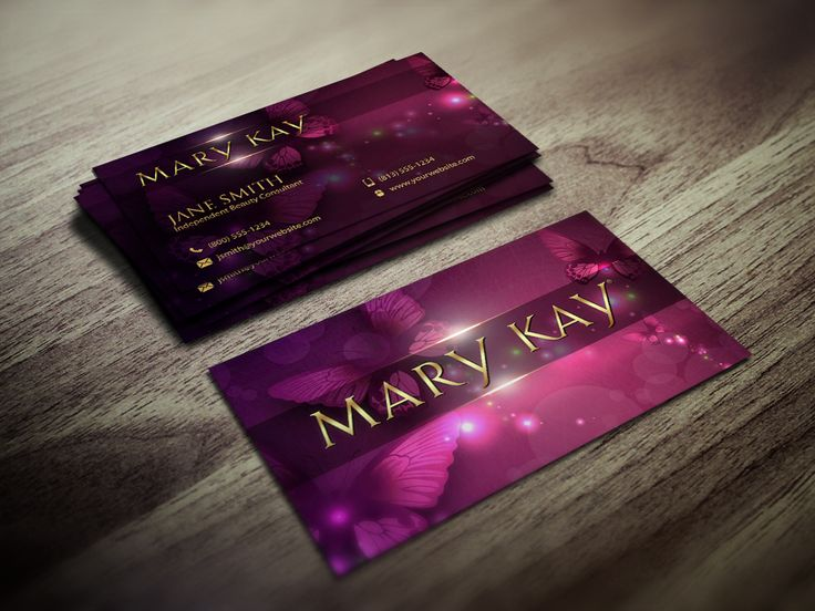 11 Best Images About Mary-Kay Business Cards On Pinterest