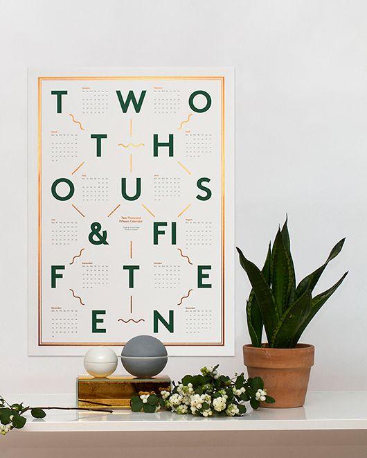 Green, white & copper arrangement (calendar from kristina krogh studio)