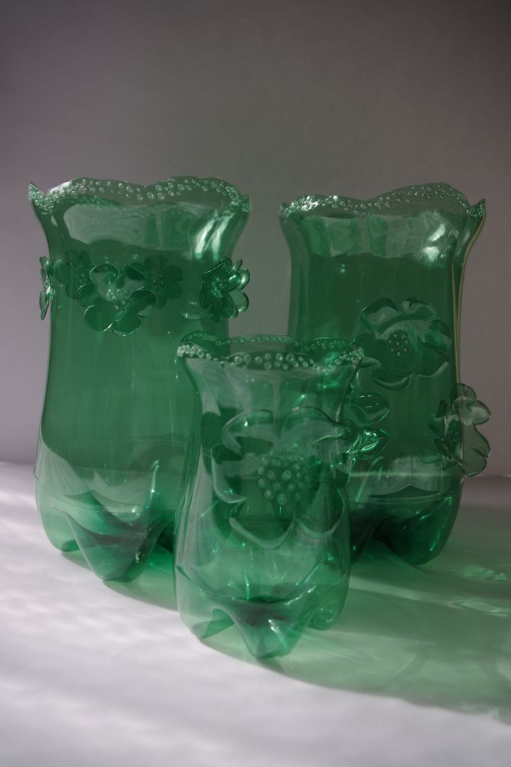 257 best images about bottles jars cans on pinterest for Crafts made from plastic bottles