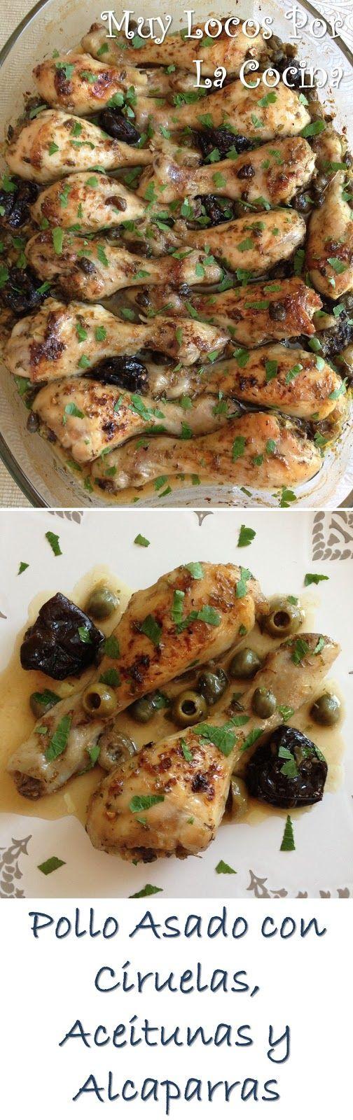 Twittear Esta es una receta de pollo que se marina en una mezcla de especias, hierbas aromáticas, ciruelas, aceitunas y ...