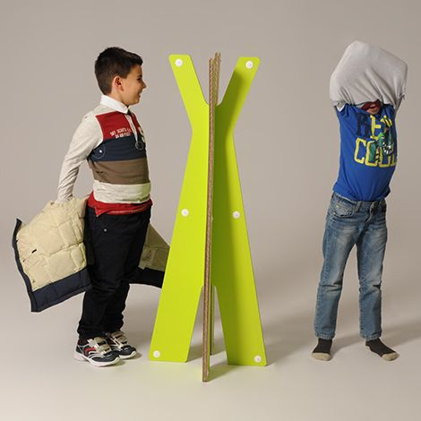 #Eddie - #baby #coat #rack - The hard-wearing stand with a comfortable height for #children let them to hang their coats and clothes. With a handy interlocking system you can assemble it in few seconds! - http://eco-and-you.com/en/shop/eddie/