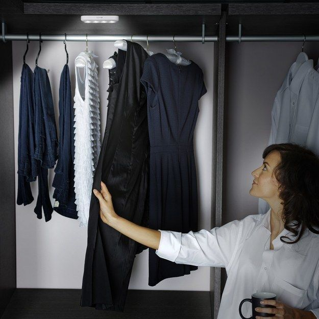 Stick-on LED lights that will actually let you see what the eff is in your closet.