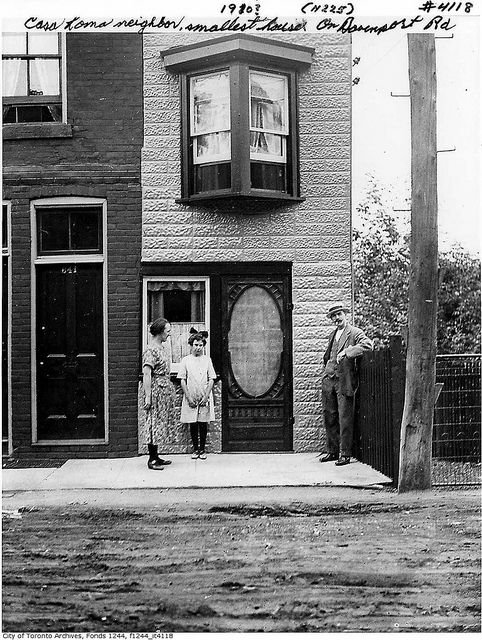 Smallest house, on Davenport Road at Albany by Toronto History, via Flickr