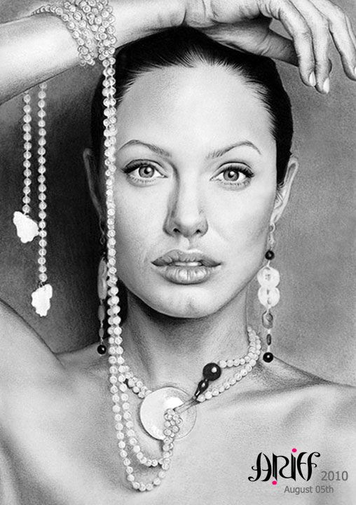Angelina Jolie by riefra.deviantart.com on @deviantART