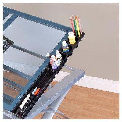 Studio Designs Canvas & Farbe verstellbar Craft Station Silber / Blau Glas   – Products