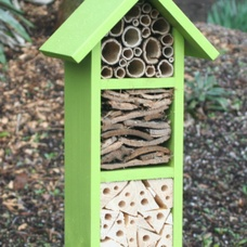 Three tier Bee & Insect Hotel, in Sunny Lime