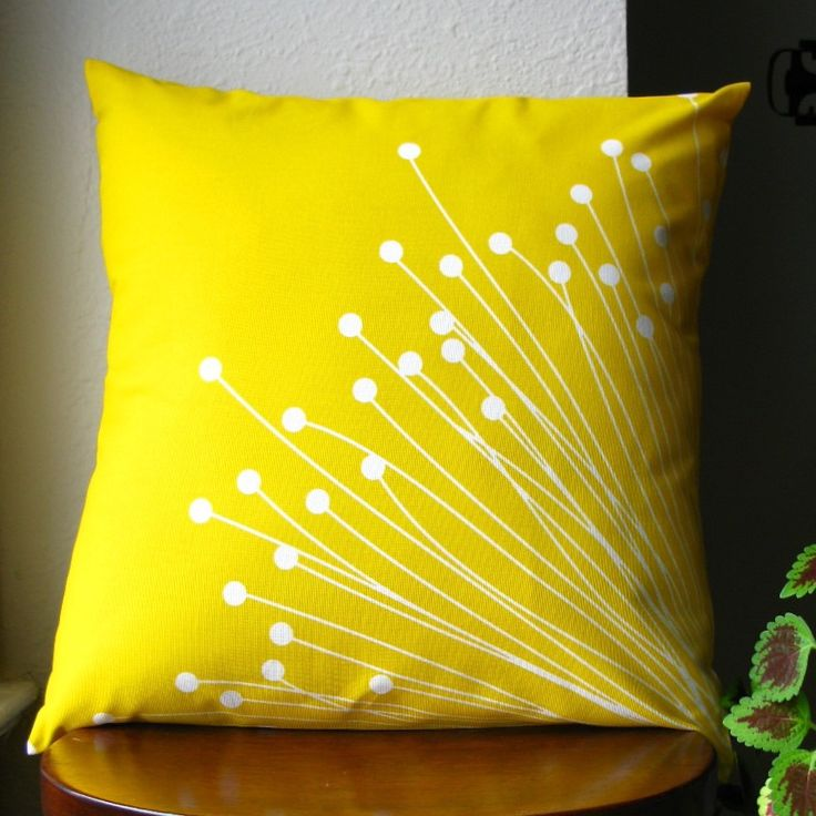 Britta (Yellow) Pillow Cover. $32.00, via Etsy.