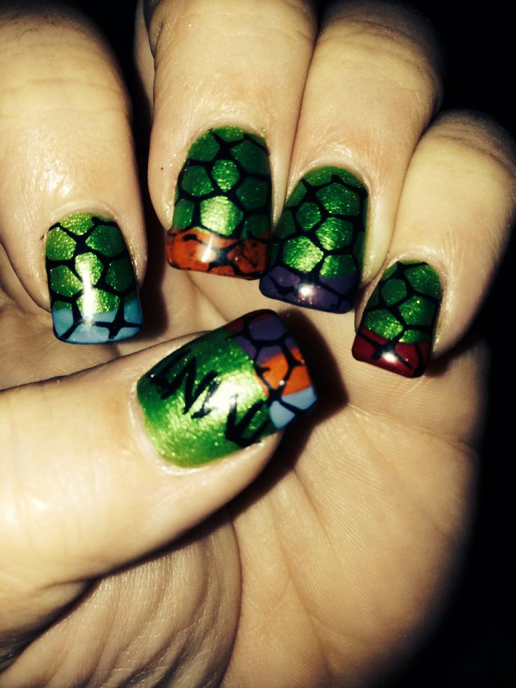 52 best Nails images on Pinterest | Ninja turtle nails, Teenage ...