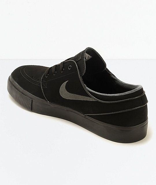 e23642c13e96 Nike SB Zoom Stefan Janoski Mono Black   Anthracite Skate Shoes ...