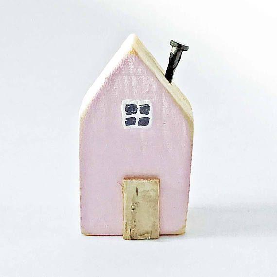Pink Magnet House Magnets Fridge Wooden Refrigerator Magnet