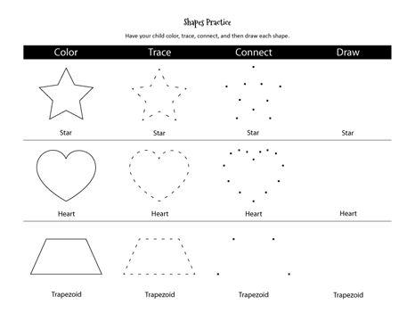 shapes practice worksheet colors shape and different shapes. Black Bedroom Furniture Sets. Home Design Ideas