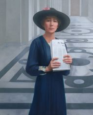 Jeannette Rankin of Montana, a suffragist and peace activist, was the first woman to serve in Congress.