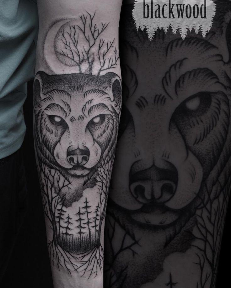 bear tattoo meaning and symbolism bear tattoos tattoo and wild tattoo. Black Bedroom Furniture Sets. Home Design Ideas