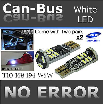 Tmz 4pcs Samsung Chips White T10 168 920 921 Canbus 15led License Plate Buldr459 #car #truck #parts #lighting #lamps #light #bulbs #led #lights #2canbt10s15w23902