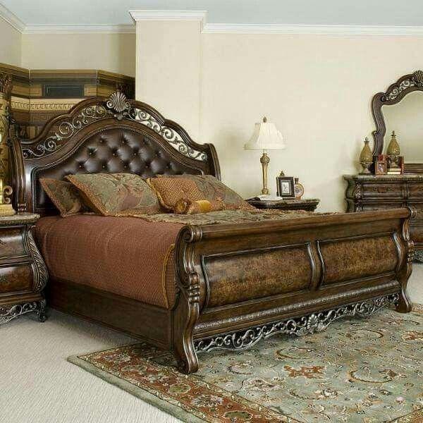 Love the leathery head board. House FurnitureBedroom ...