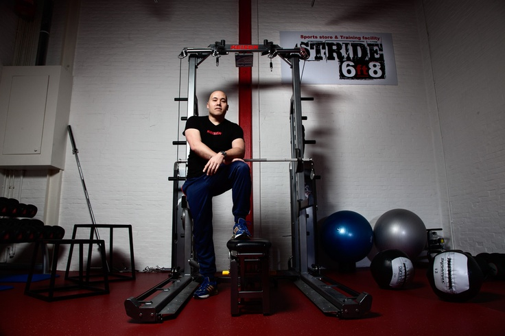 Keiser pneumatic Half Rack / Taufan Homan Owner and Strength & conditioning coach @Stride 6FT8