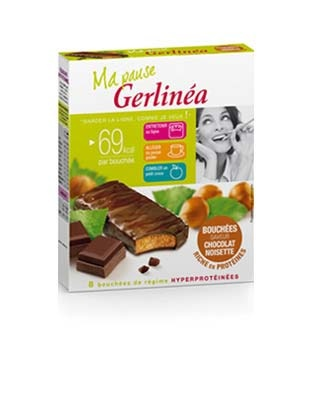my french slim fast, gerlinea. chocolate hazelnut snack bars at 69 calories a pop. getting these imported this weekend by the parents.