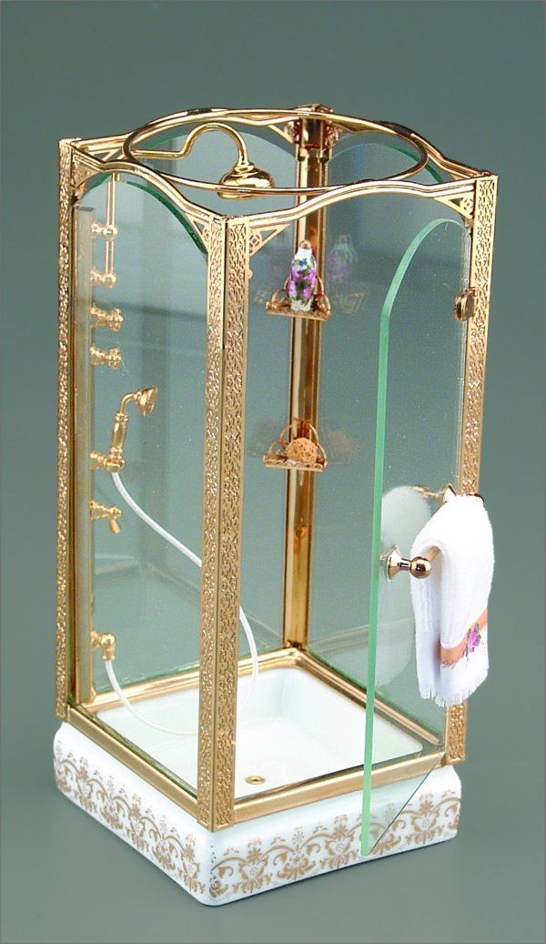 Shower Unit for a dollhouse!!! Are u kidding me??? ...What every modern day dollhouse is missing!