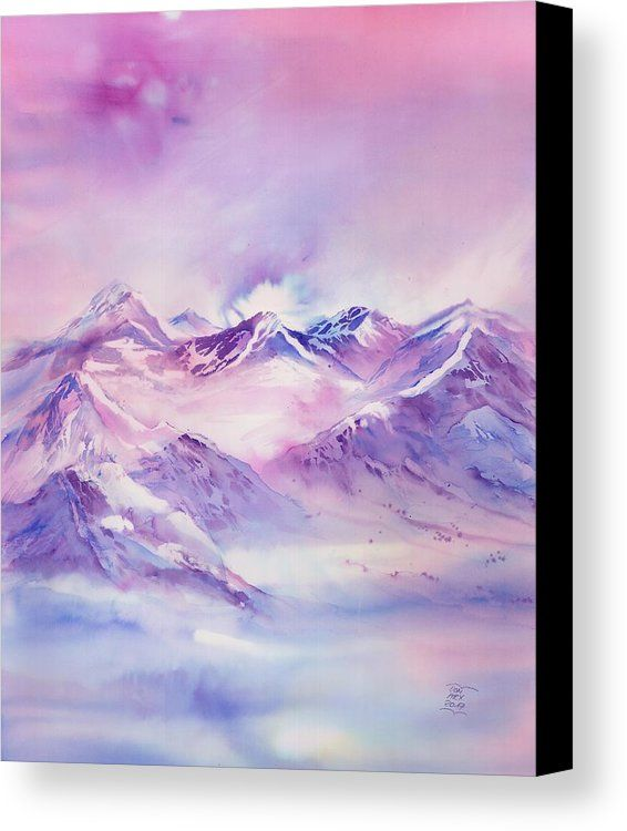 Swiss Mountains Watercolor Paintings By Sabina Von Arx Switzerland