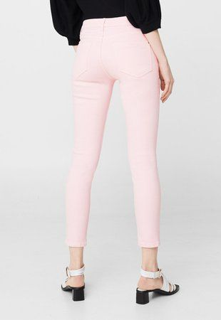 Jeansi skinny roz deschis ieftini dama Isa8 #pantaloni #jeansi #BlugiDama
