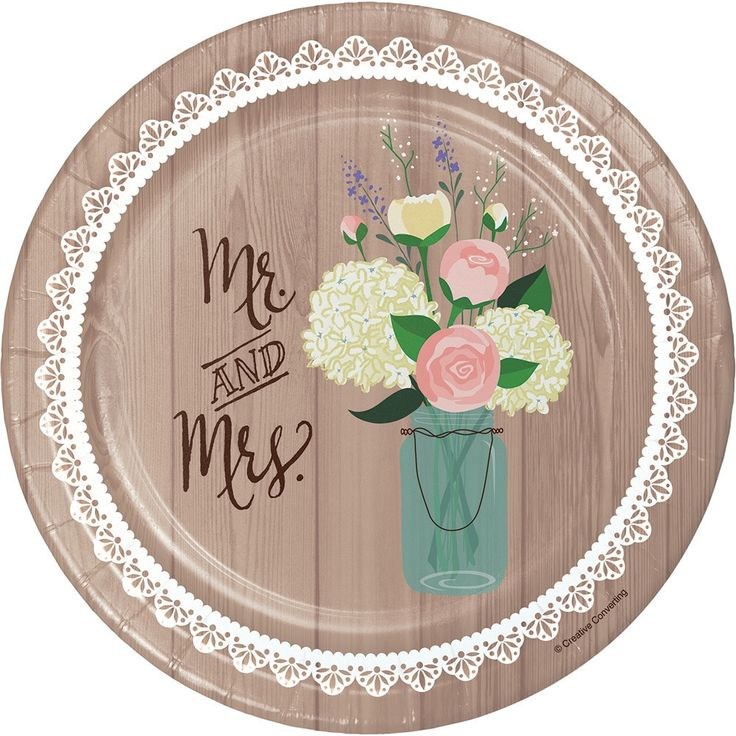 Creative Rustic Wedding Appetizer, Dessert Plates