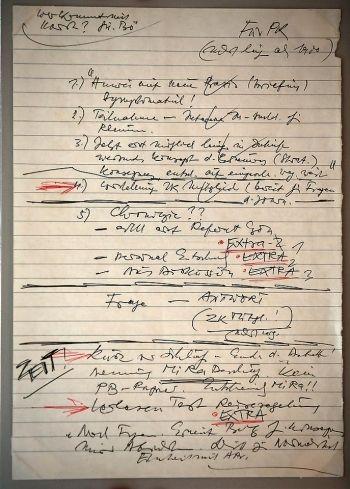 Запись в блокноте, с которой Гюнтер Шабовски сверялся во время пресс-конференции 9 ноября 1989 года  Записка, из-за которой рухнула Берлинская стена | Arzamas