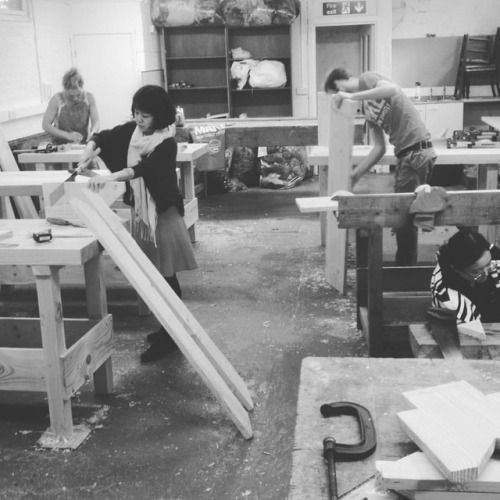 Thursday afternoon teaching #Schumacher MA students #woodwork....