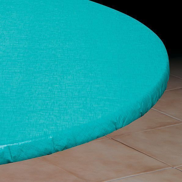 New Bahama Blue Round Elasticized Vinyl Table Cover Dining Kitchen 36 To 44 Dia Round Table Covers Table Covers Vinyl Table Covers