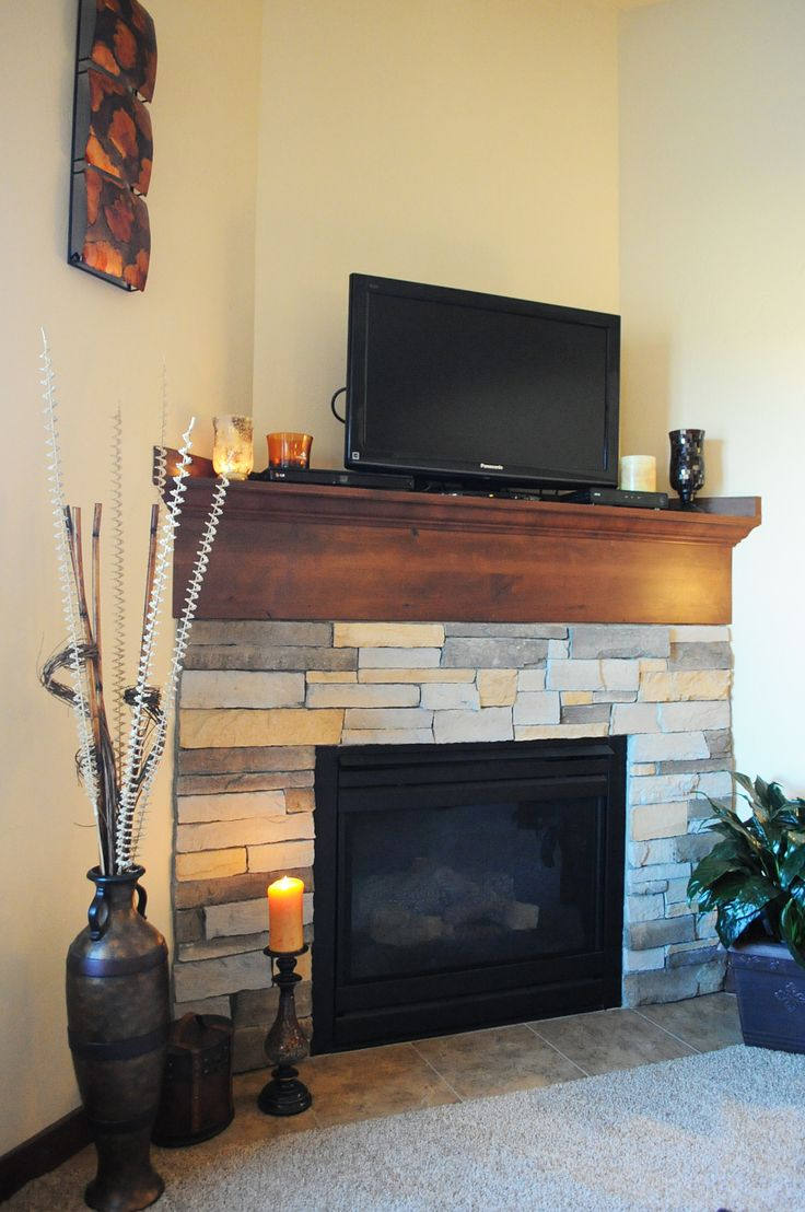 Fireplace with entertainment.