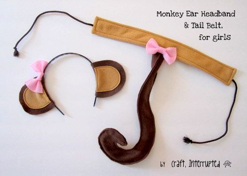 Craft, Interrupted: Monkey Ear Headband & Tail Belt Tutorial