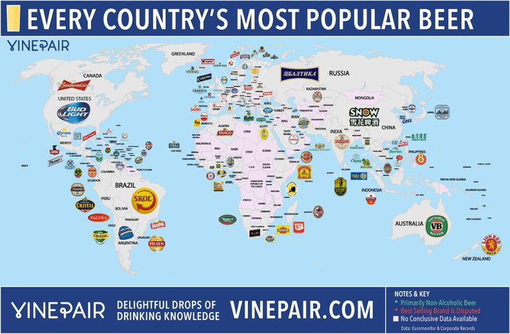 MAP: The Most Popular Beer In Every Country | VinePair