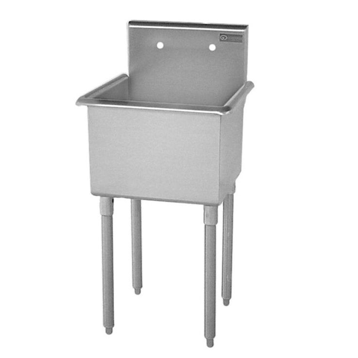 t series freestanding stainless steel 27 in 2 hole single bowl scullery sink silver. beautiful ideas. Home Design Ideas