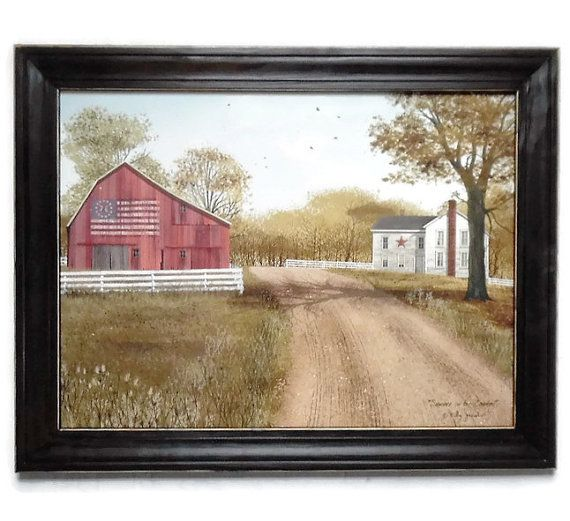 Flag barn print Billy Jacobs print Summer by BoggyCreekPrimitive #flagbarn #Americana