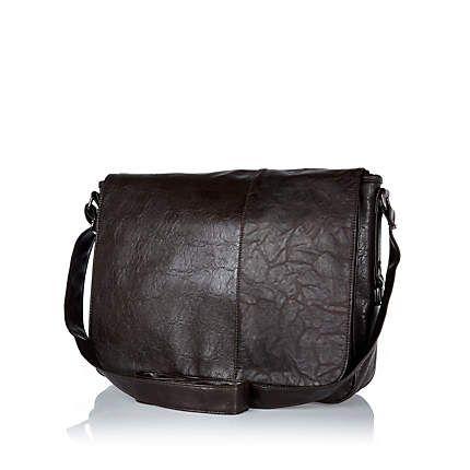 Dark brown flap over messenger bag £15.00