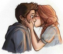how to draw a boy kissing a girl - Google Search