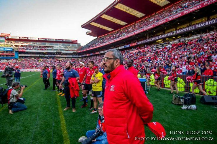 Vodacom Super Rugby semi-final: Emirates Lions vs Hurricanes. Final score: 44-29 #LeyaTheLion #Liontainment #SuperRugby #SemiFinal #LIOvHUR #EmiratesLions #Rugby #EmiratesAirlinePark #Johannesburg #FemaleMascot #Family #Team #Red #White #LionsPride