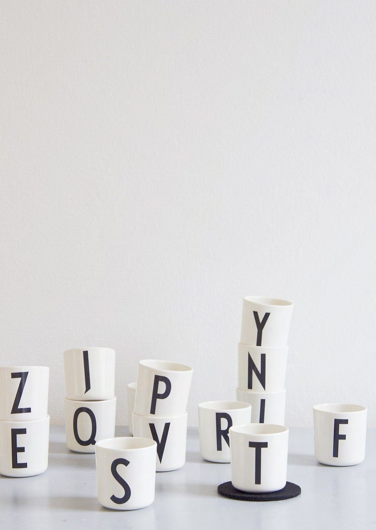 Arne Jacobsen typography - design letters