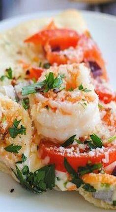 Shrimp Primavera Pizza