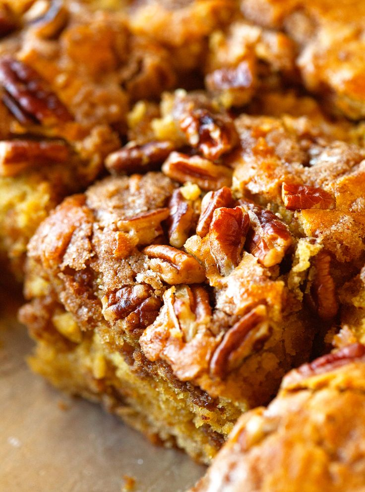 Pumpkin Coffee Cake via Deliciously Yum!