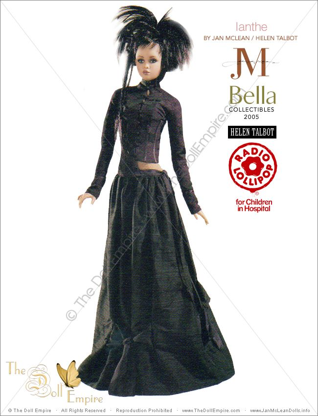 Ianthe by Jan McLean Doll Artist and Helen Talbot Fashion Designer - Bella Collectibles - New Zealand Radio Lollipop Charity Auction