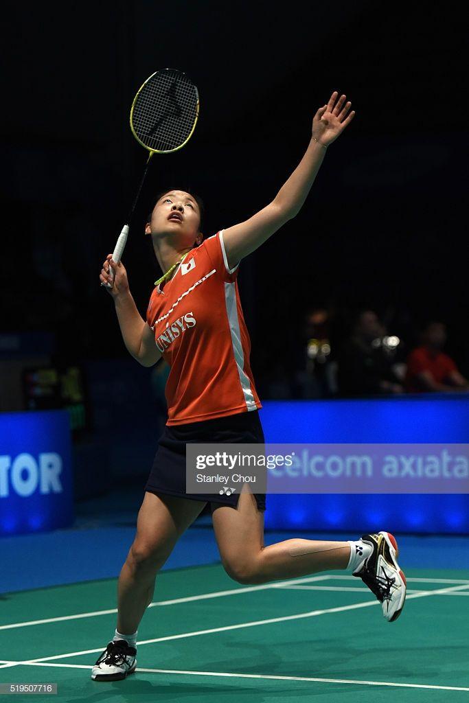 Okuhara Nozomi Of Japan Returns To Buranaprasertsuk Pomtip Of Badminton Team Badminton Sports Pictures