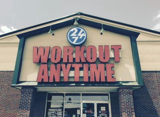 Workout Anytime Hiram Ga Gym Personal Training Fitness Exercise 24 7 24 Hr Tanning Matrix Plate Weights Anytime Fitness Gym Workouts Gym Franchise